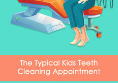 Kids dental cleaning infographic about what to expect